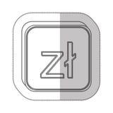 Polish zloty currency symbol icon Royalty Free Stock Photography