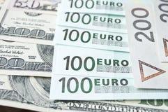 Polish zloty, euro and dollar. Background Stock Images