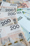 Polish zloty, euro and dollar Stock Images