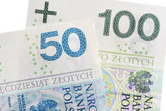 Polish Zloty -new banknotes Stock Photos