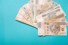 Polish zloty in notes and coins Royalty Free Stock Images