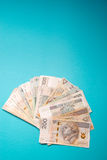Polish zloty in notes and coins Stock Images