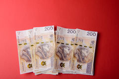 Polish zloty in notes and coins Royalty Free Stock Photo