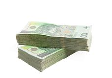 Polish Zloty pack Stock Images
