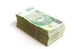 Polish Zloty pack Stock Photo