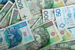 Polish zloty paper money Stock Images