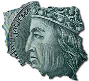 100 polish zloty or PLN. Royalty Free Stock Photo