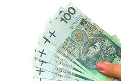 Polish zloty spending Stock Images