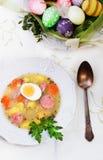 Polish Zurek, easter soup. Royalty Free Stock Photo