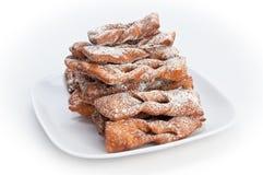 polishd плиты faworki десерта Стоковое фото RF