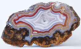 Polished Agate rock from Mexico Stock Image