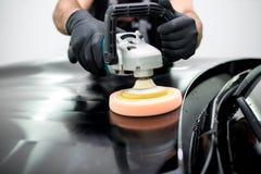 Polished black car Royalty Free Stock Image