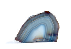 Polished blue agate Royalty Free Stock Images