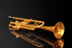Polished Brass Trumpet Royalty Free Stock Photos