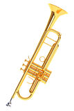 Polished Brass Trumpet Stock Image