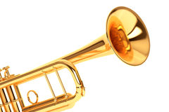 Polished Brass Trumpet Stock Images