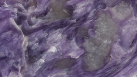 Polished charoite stone smooth texture Stock Images