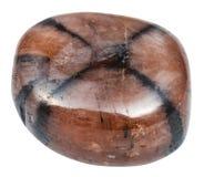 Polished Chiastolite Andalusite gemstone stock image