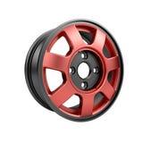 Polished chrome rim wheel on white Royalty Free Stock Image