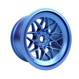 Polished chrome rim wheel on white Stock Images