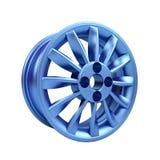 Polished chrome rim wheel on white Stock Photography