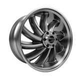 Polished chrome rim wheel on white Royalty Free Stock Image