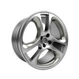 Polished chrome rim wheel on white Royalty Free Stock Images