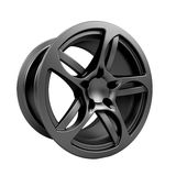 Polished chrome rim wheel on white Royalty Free Stock Photography