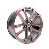 Polished chrome rim wheel on white Royalty Free Stock Images