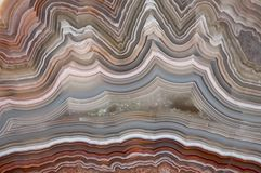 The polished cut of agate. With crystal Royalty Free Stock Photography