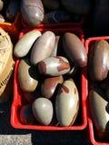 Polished egg shaped stones Royalty Free Stock Photos