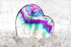 Polished fluorite cabochon Royalty Free Stock Image