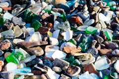 Polished glass stones Stock Photos