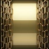 Polished golden background Stock Photography