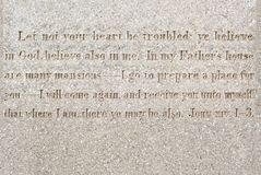 Polished granite texture background with words from bib Royalty Free Stock Photos