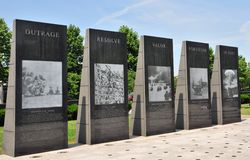 Polished granite war memorial Stock Images