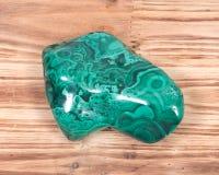 Polished green malachite stone royalty free stock photos