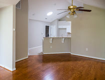 Polished Hardwood Floor in New Home Stock Photography