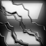 Polished metal background. 3d rendered Stock Images