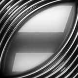 Polished metal background. 3d rendered Stock Photography