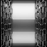 Polished metal background. 3D rendered Stock Image