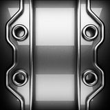 Polished metal background. 3D rendered Royalty Free Stock Photography