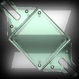 Polished metal background with glass. 3D rendered Royalty Free Stock Photo