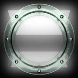 Polished metal background with glass. 3D rendered Royalty Free Stock Images