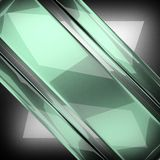 Polished metal background with glass. 3D rendered Royalty Free Stock Photos