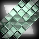 Polished metal background with glass Stock Image