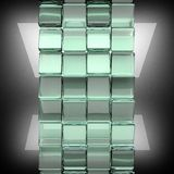 Polished metal background with glass. 3D rendered image Royalty Free Stock Images