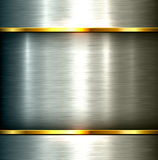 Polished metal background Stock Image