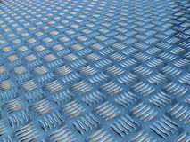 Polished metal diamond plate Stock Image
