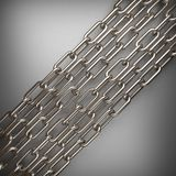 Polished metal element on gray background Royalty Free Stock Photography